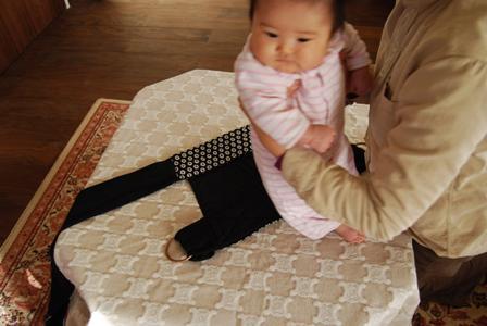 赤ちゃんのおんぶ紐3